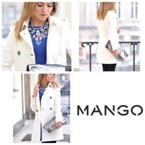 NEW Mango white trench coat XS